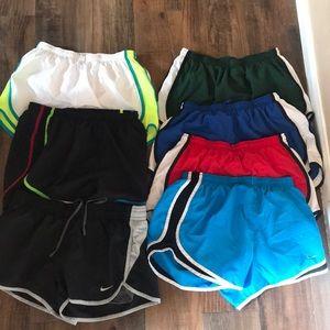 7 pairs of Nike shorts.